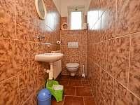 WC - chalupa k pronájmu Černý Důl - Čistá v Krkonoších