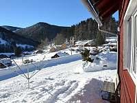 vyhled ze zahradky - apartmán k pronájmu Pec pod Sněžkou - Velká Úpa