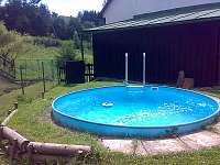 venkovní bazén  průměr 3,6m - oplocený prostor