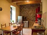 kuchyň - chalupa ubytování Rudník