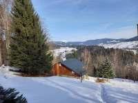 Chalupa v zimě 2 - k pronájmu Paseky nad Jizerou