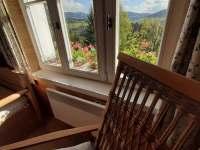 Výhled z okna - pronájem chalupy Paseky nad Jizerou