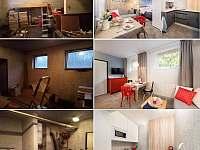 Před a po rekontrukci - apartmán k pronajmutí Rudník u Vrchlabí