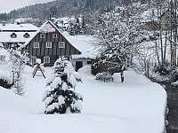 Roubenka Verunka - zima - chalupa k pronájmu Rokytnice nad Jizerou