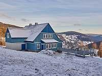 Nádherný výhled z terasy - ubytování Velká Úpa