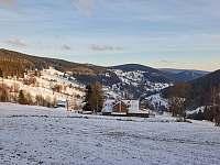 Pohled z terasy - ubytování Velká Úpa