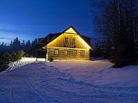 příjezd k chatě - k pronájmu Pec pod Sněžkou