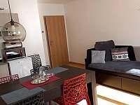 jídelna a obývací pokoj - apartmán k pronájmu Harrachov