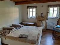Relax chaloupka_ložnice - ubytování Černý Důl - Čistá v Krkonoších