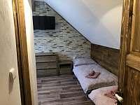 ložnice 2 lůžka + možnost přistýlka - chalupa k pronájmu Nová Paka - Štikov
