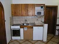 kuchyňský kout apartmánu v přízemí - pronájem Rokytnice nad Jizerou