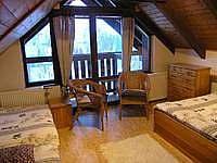 ložnice v podkroví - apartmán k pronájmu Rokytnice nad Jizerou