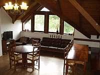 společenská místnost apartmánu v podkroví - ubytování Rokytnice nad Jizerou
