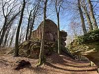 Zricenina hradu Brectejn - Mladé Buky
