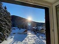 Apartmán 2 výhled z ložnic - Harrachov