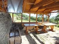 pergola s grilem - ubytování Vrchlabí - Hořejší Vrchlabí