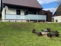 Ohniště u domu - chata ubytování Černý Důl - Čistá v Krkonoších
