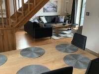 schodiště, obývací pokoj - chata k pronajmutí Černý Důl - Čistá v Krkonoších