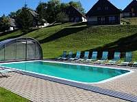 Vyhřívaný bazén - chalupa k pronajmutí Černý Důl - Čistá v Krkonoších