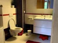 Koupelna - wc - apartmán ubytování Vítkovice v Krkonoších