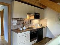 Kuchyň - apartmán ubytování Vítkovice v Krkonoších