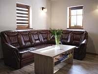 Obývací pokoj - společenská místnost - pronájem chaty Vítkovice v Krkonoších