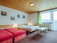 Apartmán 1. čtyř - pětilůžkový apartmán s jednou ložnicí a balkonem.