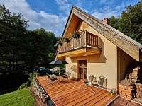 terasa - chata ubytování Trutnov - Poříčí