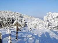 Běžecká stopa - Rýchorský kříž - Pomezní Boudy - chata k pronajmutí Prkenný Důl
