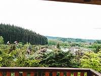 Výhled z balkónu - chata ubytování Oblanov - Dolce