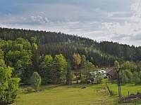 Hořická chata, pohled ze sjezdovky - k pronájmu Černý Důl