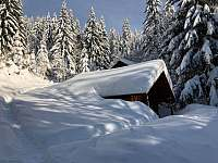 Sauna v zimě - chata ubytování Rokytnice nad Jizerou