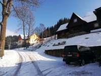 parkování - chata k pronájmu Dolní Lysečiny