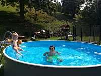 venkovní vyhřívací bazén - chata k pronajmutí Dolní Lysečiny