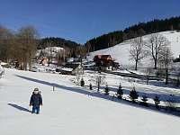 výhled na chalupu - Dolní Lysečiny