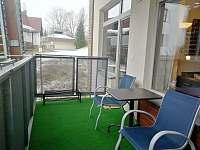 terasa - apartmán ubytování Harrachov