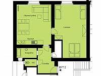 půdorys bytu - apartmán k pronajmutí Svoboda nad Úpou