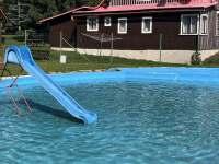 koupaliště - dětský bazének - chalupa k pronájmu Jablonec nad Jizerou