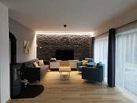 Obývací pokoj s krbem ap. A - Černý Důl