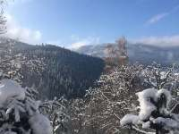 zimní pohled od nás - Pec pod Sněžkou