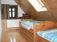 2lůžkový pokoj s přistýlkou v podkroví - pronájem chalupy Radvanice - Slavětín