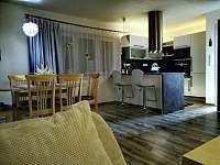 Obývací pokoj s kuchyňskou linkou - pronájem chalupy Hostinné