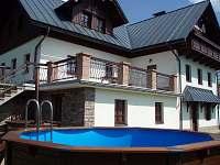 Bazén se solárním ohřevem.