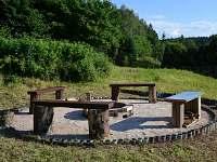 Venkovní posezení u ohniště - Rudník