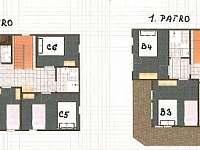 Chata Labaika, plánek pokojů