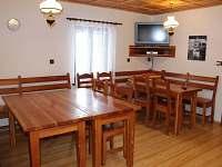 Společenská místnost - chalupa ubytování Vysoké nad Jizerou