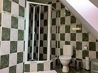 Koupelna v podkroví - pronájem chalupy Nemojov - Starobucké Debrné