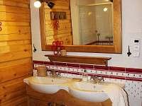 spodní koupelna - chalupa k pronajmutí Horní Lysečiny