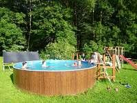 venkovní bazén - apartmán k pronajmutí Dolní Lysečiny