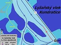Vlek a sjezdovka Kundratice - chalupa k pronájmu